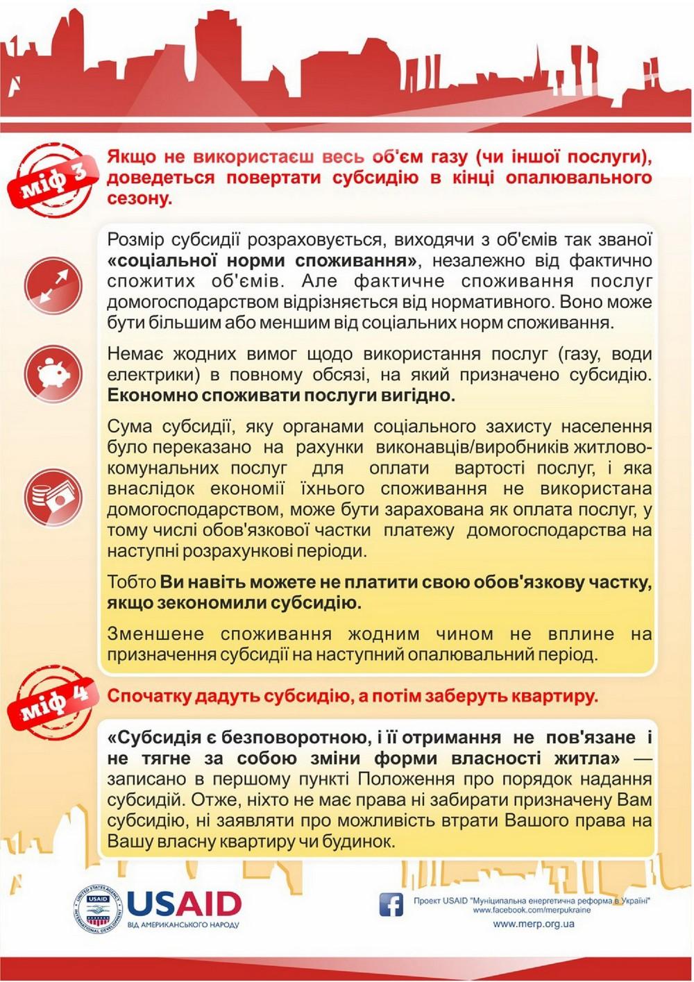 """Про страхи та чутки щодо програми субсидій  (Інформацію взято із сайту """"Інститут місцевого розвитку"""")"""